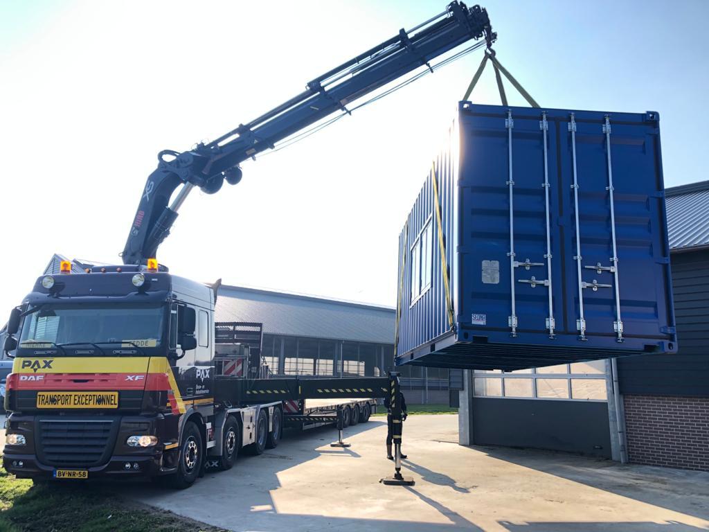 Transport of installation
